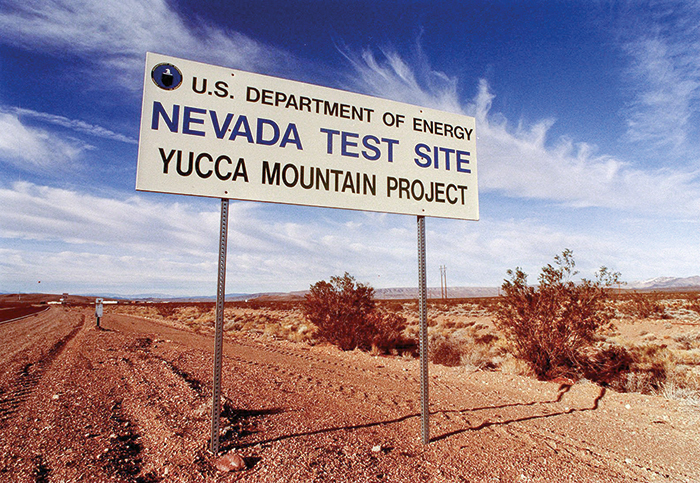 A sign for Nevada Test Site
