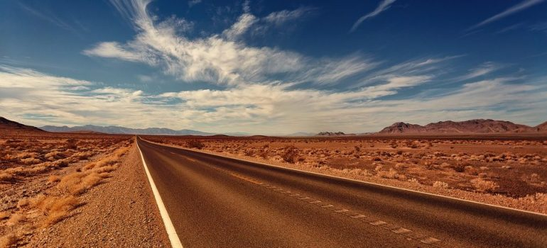 A deserted road in Nevada.