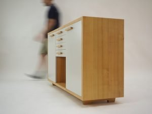 a small cabinet with drawers