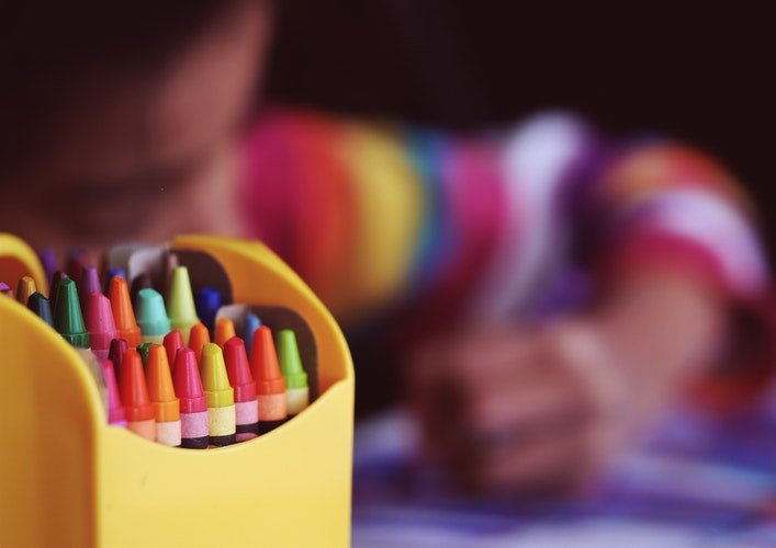 Help children settle into a new home by letting them be creative