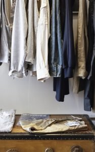 Cleaning out your residential junk by cleaning out your clothes.