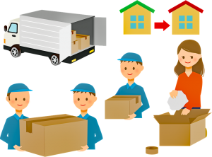 movers relocate the household