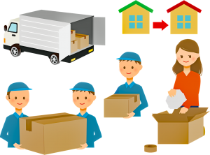 professional movers packing and loading household
