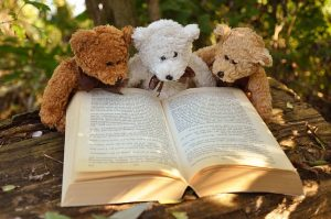 Toys and a book