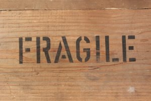 ''Fragile'' on a box - when moving during a rainstorm, load fragile things into the truck last