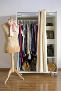 rolling wardrobe in the room