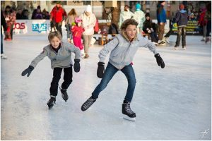 Ice skating, you can ice skate at Cosmopolitan ice rink and have a perfect Christmas in Las Vegas