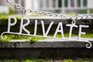 a private sign - moving to suburbs
