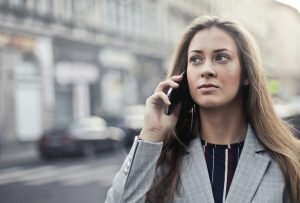 A girl talking on a phone