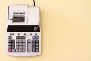 A cash register that will help calculate costs for a cheap move to Las Vegas