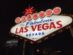 """A """"welcome to Las Vegas"""" sign"""