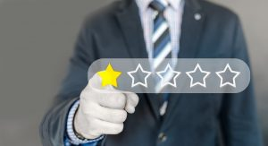 A man giving a one star review
