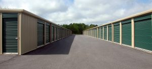 a picture of storage units next to eachother