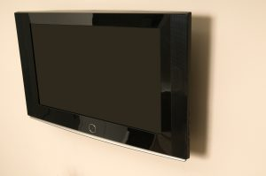 a television mounted to a wall