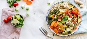 a meal containing vegetables of all sorts as one of 5 meal ideas for moving day