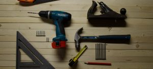 an electric drills, a hammer and more of the tools that make moving easier
