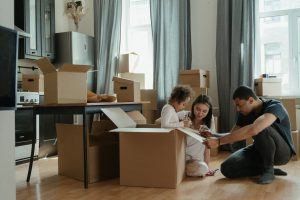 One of the moving myths is that you need to move it all at once like family in the image