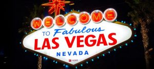 """A neon """"Welcome to Las Vegas"""" sign"""