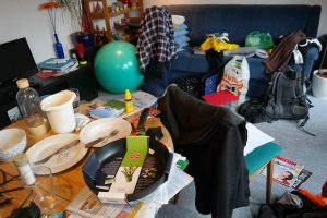 a messy room - pack light for Mesquite relocation